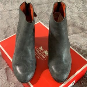 Coach- Honey Soft Grey Leather Booties